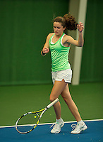Almere, Netherlands, December 6, 2015, Winter Youth Circuit, Carmen van Poelgeest (NED)<br /> Photo: Tennisimages/Henk Koster