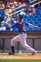 South Bend Cubs designated hitter Alberto Mineo (47) at bat during a game against the Lake County Captains on July 27, 2016 at Classic Park in Eastlake, Ohio.  Lake County defeated South Bend 5-4.  (Mike Janes/Four Seam Images)