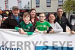 John, Colm and Bernadette Kissane (Barleymount), Donnacha Kissane O'Sullivan, Ann and Paul Lynch (Tralee Manor West cycling club) at the Rás Mumhan cycling in Killorglin on Easter Monday.