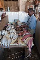 Zanzibar, Tanzania.  Darajani Fish Market, Stone Town.