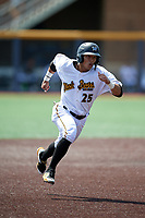 West Virginia Black Bears Fernando Villegas (25) running the bases during a NY-Penn League game against the Batavia Muckdogs on August 29, 2019 at Monongalia County Ballpark in Morgantown, New York.  West Virginia defeated Batavia 5-4 in ten innings.  (Mike Janes/Four Seam Images)