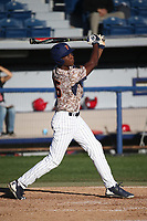 Josh Davis (15) of the Pepperdine Waves bats against the Fresno State Bulldogs at Eddy D. Field Stadium on March 7, 2017 in Los Angeles, California. Pepperdine defeated Fresno State, 8-7. (Larry Goren/Four Seam Images)