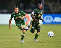 LAKE BUENA VISTA, FL - JULY 18: Sebastián Blanco #10 of the Portland Timbers passes the ball during a game between Houston Dynamo and Portland Timbers at ESPN Wide World of Sports on July 18, 2020 in Lake Buena Vista, Florida.