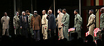 """Douglas Turner Ward, Charles Fuller and David Alan Grier with Kenny Leon with the cast During the Broadway Opening Night Curtain Call Bows for The Roundabout Theatre Company's """"A Soldier's Play""""  at the American Airlines Theatre on January 21, 2020 in New York City."""
