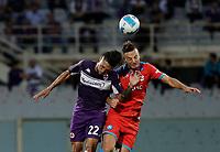 3rd October 2021; Franchi Stadium, Florence, Italy; Serie A football, Fiorentina versus Napoli : Nicolás González of Fiorentina wins the header