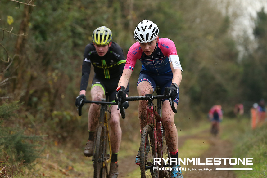 EVENT:<br /> Round 5 of the 2019 Munster CX League<br /> Drombane Cross<br /> Sunday 1st December 2019,<br /> Drombane, Co Tipperary<br /> <br /> CAPTION:<br /> David McCarthy of Verge Sport PI Cycles in action during the A Race - Junior<br /> <br /> Photo By: Michael P Ryan