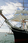 Port of San Diego, Historic Ships, San Diego, California, clipper ship Star of India, one of the last of the famous windjammers, the fastest sailing merchant ships in history,