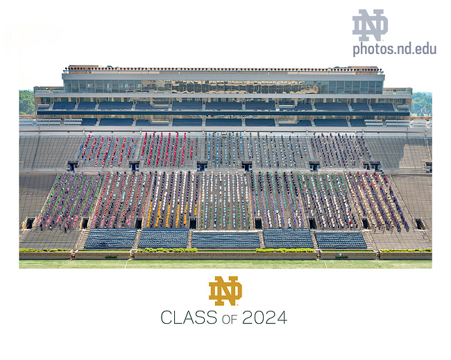 August 9, 2020; Composite photo of University of Notre Dame class of 2024. PLEASE NOTE: COMPOSITE PHOTO. The final image was made by combining two separately-photographed groups in which proper steps had been taken to ensure students were adhering to CDC and University social distancing recommendations and policies. (Photo by Matt Cashore/University of Notre Dame)