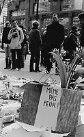 Marche de soutien apres les attentats de Paris,  novembre 2015 (date exacte inconnue)<br /> <br /> PHOTO : Agence Quebec presse