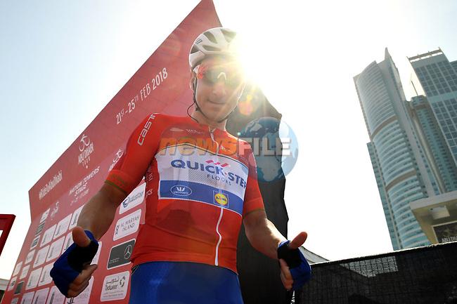 Foto LaPresse - Massimo Paolone<br /> 23/02/2018 Abu Dhabi (Emirati Arabi Uniti)<br /> Sport Ciclismo<br /> Abu Dhabi Tour 2018 - 4a edizione - Tappa 3 - Nation Towers Stage - da Nation Towers a Big Flag - 133 km (82,6 miglia) <br /> Nella foto: VIVIANI Elia (ITA) (QUICK-STEP FLOORS)  <br /> <br /> Photo LaPresse - Massimo Paolone<br /> 22/02/2018 Abu Dhabi (United Arab Emirates) <br /> Sport Cycling<br /> Abu Dhabi Tour 2018 - 4th edition -  Stage 3 - Nation Towers Stage - from Nation Towers to Big Flag - 133 km (82,6  miles)<br /> In the pic: VIVIANI Elia (ITA) (QUICK-STEP FLOORS)