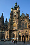 Tschechien, Boehmen, Prag: Veitsdom, Amtssitz des Prager Erzbischofs, auf der Prager Burg, Suedfassade | Czech Republic, Bohemia, Prague: Prague Castle, Southern side of Saint Vitus`s Cathedral