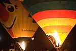 Hot Air Balloons filled at Night