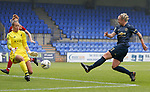 Leah Galton of Manchester United Women takes a shot on goal