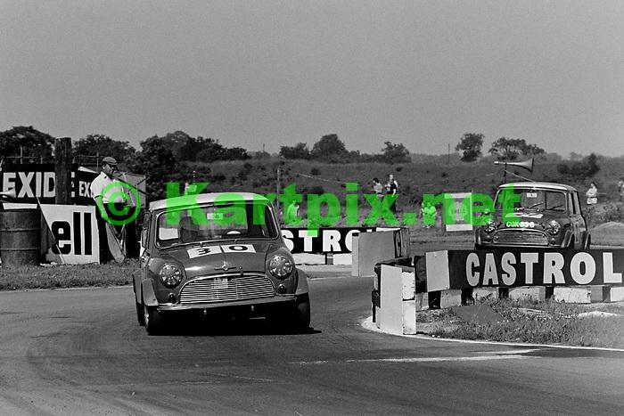 Rob Mason in saloon car action at Croft in 1969.