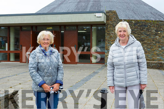 Betty O'Connor and Kitty Murphy were delighted to get back to mass in the Church of the Ressurection Killarney on Monday
