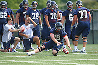 Sean Cascaranoduring open spring practice for the Virginia Cavaliers football team August 7, 2009 at the University of Virginia in Charlottesville, VA. Photo/Andrew Shurtleff