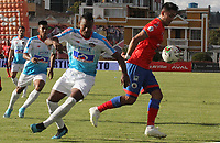 IPIALES-COLOMBIA ,12-10-2019.Acción de juego entre los equipos Deportivo Pasto y Atlético Junior  durante partido por la fecha 17 de la Liga Águila II 2019 jugado en el estadio Municipal de Ipiales./ Action game between  Deportivo Pasto and Atletico Junior   during the match for the date 17 of the Aguila League II 2019 played at Municipal stadium in Ipiales city. Photo: VizzorImage/ Leonardo Castro / Contribuidor