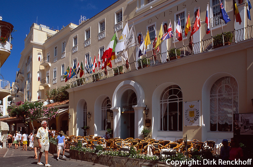 Italien, Capri, Grand Hotel Quisisana auf der Via Camerelle im Ort Capri