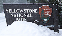 The snowy northeast entrance to Yellowstone.