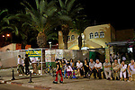 Israel, Yom Kippur in Herzlia, people in front of the Synagogue, 2005<br />