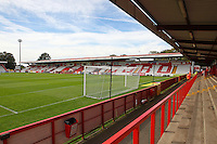 General view of the ground from the North Terrace during Stevenage vs Exeter City, Sky Bet EFL League 2 Football at the Lamex Stadium on 24th September 2016