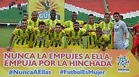 TUNJA - COLOMBIA, 8-03-2018:Formación Atlético Bucaramanga. Patriotas Boyacá y Atlético Bucaramanga en partido por la fecha 7de la Liga Águila I 2018 jugado en el estadio La Independencia la ciudad de Tunja. / Team of Atletico Bucaramanga.Patriotas Boyaca and Atletico Bucaramanga in match for date 7 of the Aguila League I 2018 played at La Independencia stadium in Tunja city. Photo: VizzorImage / José Miguel Palencia / Contribuidor