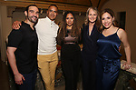 "Javier Munoz, Christopher Jackson, Tracie Toms, Helen Hunt and Andrea Burns attends the Opening Night performance afterparty for ENCORES! Off-Center production of ""Working - A Musical""  at New York City Center on June 26, 2019 in New York City."