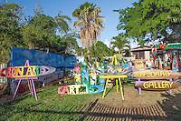 Ron Artis outdoor art gallery in Haleiwa, O'ahu.
