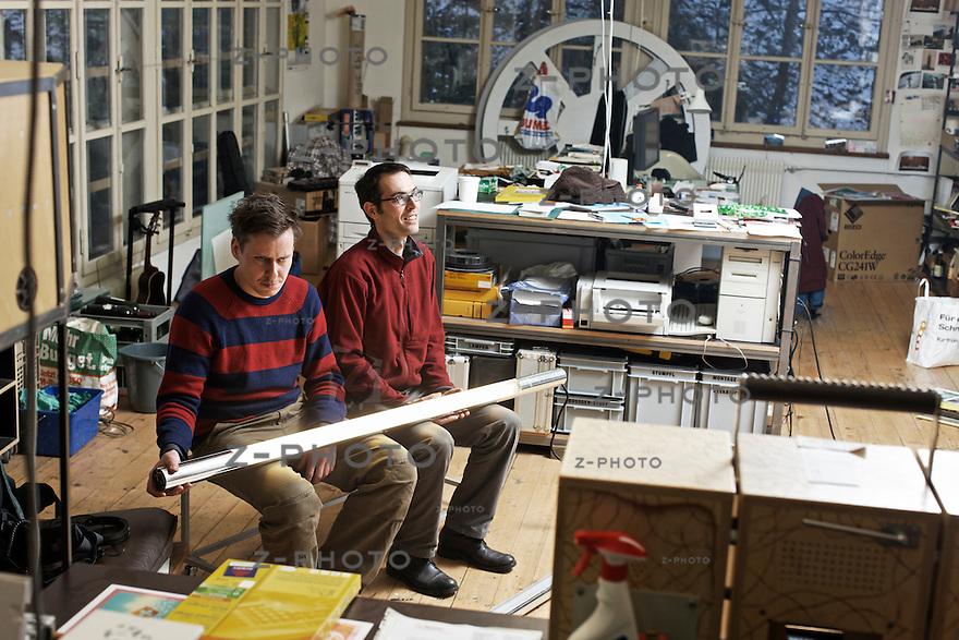 v.l.n.r. Portrait von Silvio Waser und Markus Wicki vom Buffet fuer Gestaltung..© Zvonimir Pisonic