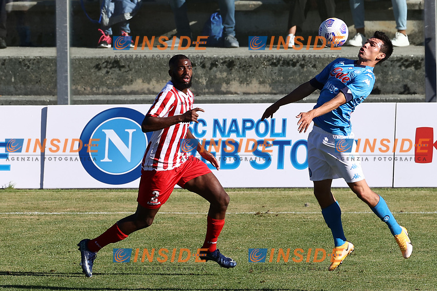 Hirving Lozano of SSC Napoli<br /> during the friendly football match between SSC Napoli and SS Teramo Calcio 1913 at stadio Patini in Castel di Sangro, Italy, September 04, 2020. <br /> Photo Cesare Purini / Insidefoto