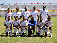 Trinidad & Tobago lines up during the quarterfinals of the CONCACAF Men's Under 17 Championship at Catherine Hall Stadium in Montego Bay, Jamaica. Canada defeated Trinidad & Tobago, 2-0.