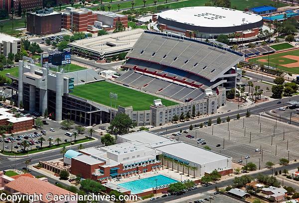 aerial photograph of the Arizona Stadium, University of Arizona, Tucson
