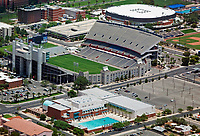 aerial photograph of the Arizona Stadium, University of Arizona, Tucson