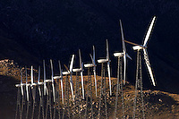 WIND GENERATORS create electricy off of highway 10 - PALM SPRINGS, CALIFORNIA