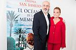 """The editor of the book, Pablo Alvarez and Paloma San Basilio during the presentantion of her first book """"El Oceano de la Memoria"""" at Circulo de Bellas Artes in Madrid. May 12, 2016. (ALTERPHOTOS/Borja B.Hojas)"""