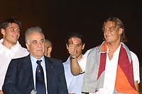 Roma 24 Giugno. Circo Massimo, concerto per la Roma campione d'Italia.<br /> Franco Sensi e Francesco Totti