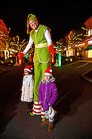 Charlotte Christmas Events - Photography of the Phillips Place Winter Wonderland Christmas event in Charlotte, North Carolina.<br /> <br /> Christmas stilt walkers entertaining the children at a holiday event.<br /> <br /> Charlotte Photographer - PatrickSchneiderPhoto.com