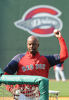April 8, 2009: Coach Billy McMillon of the Greenville Drive, Class A affiliate of the Boston Red Sox, during Media Day at Fluor Field at the West End in Greenville, S.C. McMillon was named 2010 manager of the Drive on Dec. 22, 2009. Photo by:  Tom Priddy/Four Seam Images