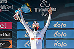 Tadej Pogacar (SLO) UAE Team Emirates wins Stage 4 and also retains the young riders Maglia Bianca of Tirreno-Adriatico Eolo 2021, running 148km from Terni to Prati di Tivo, Italy. 13th March 2021. <br /> Photo: LaPresse/Gian Mattia D'Alberto | Cyclefile<br /> <br /> All photos usage must carry mandatory copyright credit (© Cyclefile | LaPresse/Gian Mattia D'Alberto)