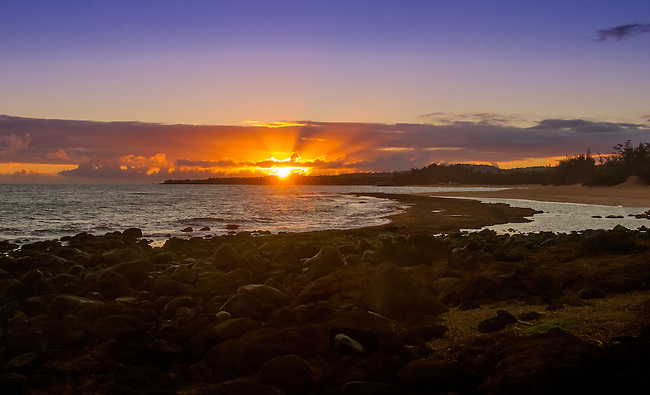 Sunrise at Red Rocks, Sprecklesville and Ho'okipa,  August 4, 2013