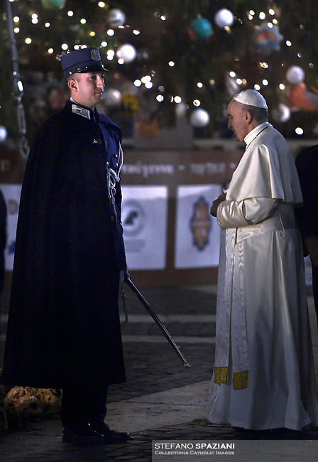 The Vatican's gendarme corps  of Vatican City State (Italian: Corpo della Gendarmeria dello Stato della Città del Vaticano) is the gendarmerie, or police and security force, of Vatican City and the extraterritorial properties of the Holy See.<br /> The 130-member corps is led by an Inspector General, currently Domenico Giani,The corps is responsible for security, public order, border control, traffic control, criminal investigation, and other general police duties in Vatican City.2019