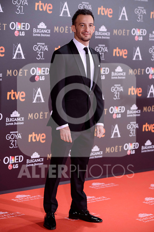 Alejandro Amenabar attends to the Red Carpet of the Goya Awards 2017 at Madrid Marriott Auditorium Hotel in Madrid, Spain. February 04, 2017. (ALTERPHOTOS/BorjaB.Hojas)