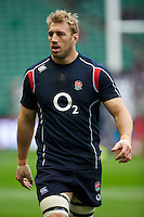 Chris Robshaw of England warms up before the Cook Cup between England and Australia, part of the QBE International series, at Twickenham on Saturday 17th November 2012 (Photo by Rob Munro)