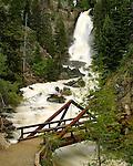 Peak flow on Fish Creek Falls in Steamboat Springs, Colorado.