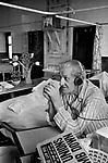 Charing Cross Hospital 1970s London, men watching TV, listening to radio.