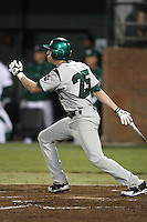 February 20, 2010:  Catcher Kyle Barbato (25) of the Siena Saints during the season opener at Melching Field at Conrad Park in DeLand, FL.  Siena defeated Stetson by the score of 8-4.  Photo By Mike Janes/Four Seam Images