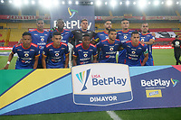 BOGOTA- COLOMBIA, 29-11-2020::Jugadores del Deportivo Pasto posan para una foto previo al partido por los cuartos de final vuelta como parte de la Liga BetPlay DIMAYOR 2020 entre  Independiente Santa Fe y Deportivo Pasto jugado en el estadio Nemesio Camacho El Campín de la ciudad de Bogotá. / Players of Deportivo Pasto pose to a photo prior match for the quarterfinal second leg as part of BetPlay DIMAYOR League 2020 between  Independiente Santa Fe and Deportivo Pasto played at Nemesio Camacho El Campin stadium in Bogota. Photo: VizzorImage / Daniel Garzon / Contribuidor