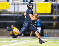 Charles Nimrod (5) of  Bentonville catches the ball for long touchdown in 2md quarter against Fayettville at Tigers Stadium, Bentonville, Arkansas on Friday, October 16, 2020 / Special to NWA Democrat-Gazette/ David Beach