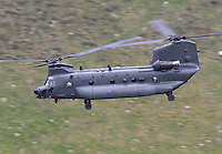 Chinook helicopter at Bwlch, Wales