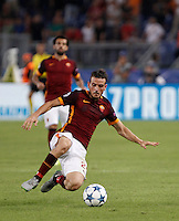 Calcio, Champions League, Gruppo E: Roma vs Barcellona. Roma, stadio Olimpico, 16 settembre 2015.<br /> Roma's Alessandro Florenzi in action during a Champions League, Group E football match between Roma and FC Barcelona, at Rome's Olympic stadium, 16 September 2015.<br /> UPDATE IMAGES PRESS/Isabella Bonotto<br /> <br /> *** ITALY AND GERMANY OUT ***